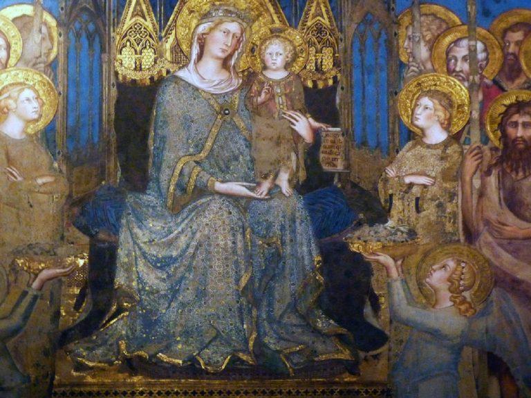 Маэста. Фрагмент (центральная часть). 1315
