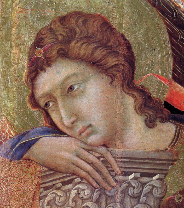 Маэста. Фрагмент. Ангел. 1308–1311