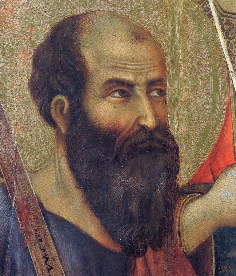 Маэста. Фрагмент. Апостол Павел. 1308–1311