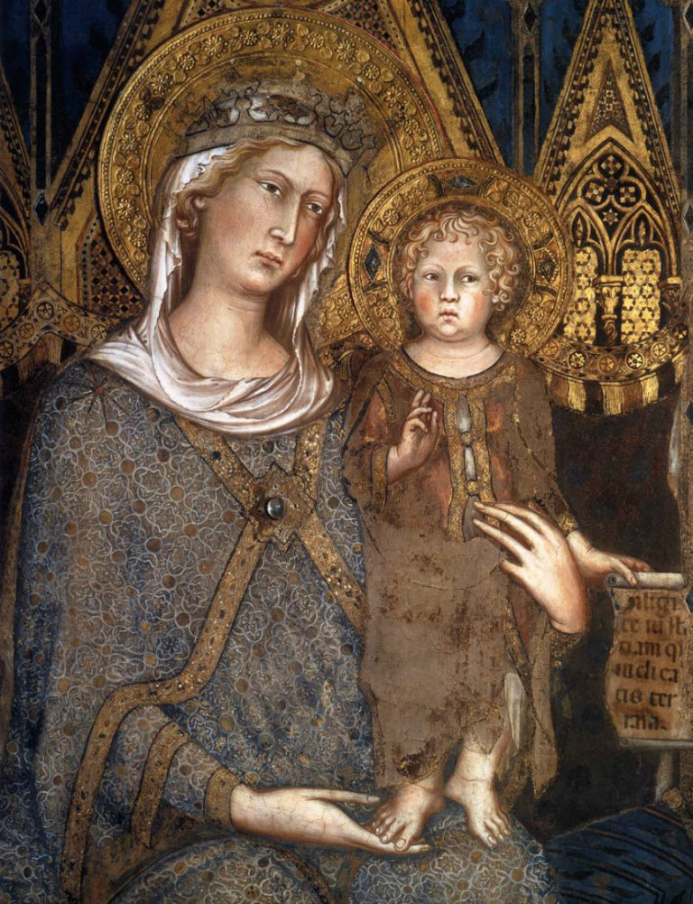 Маэста. Фрагмент. Богородица с Младенцем. 1315
