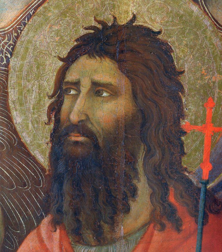 Маэста. Фрагмент. Иоанн Креститель. 1308–1311