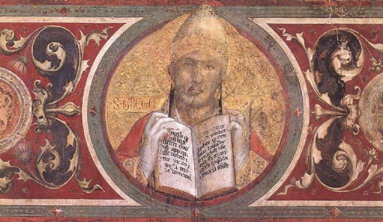 Маэста. Фрагмент. Папа Григорий. 1315