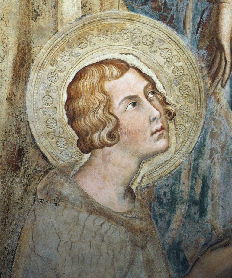 Маэста. Фрагмент. Св. Ансано. 1315