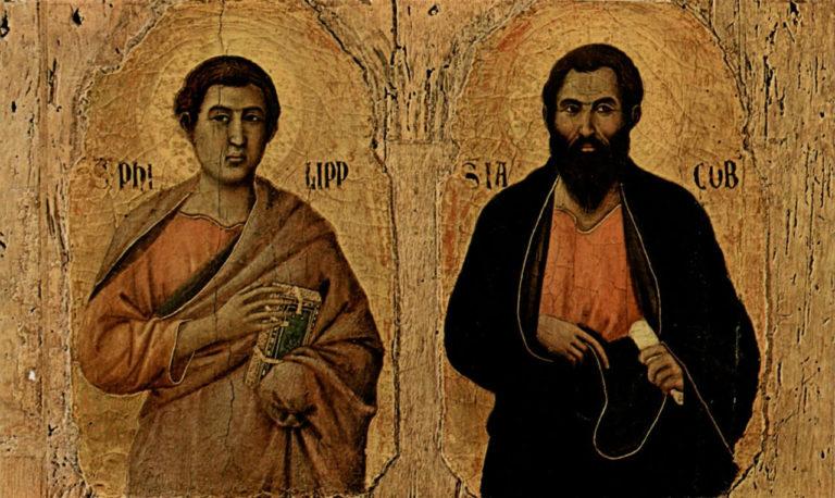 Маэста. Фрагмент. Святые Филипп и Иаков. 1308–1311