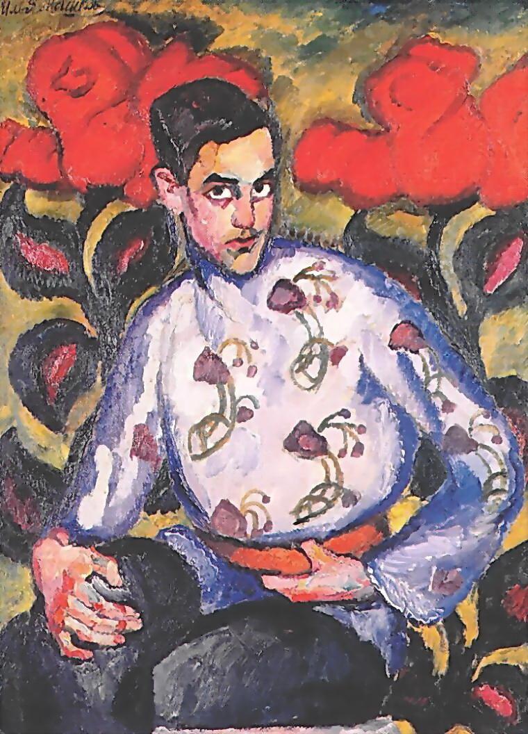 Мальчик в расписной рубашке. 1909