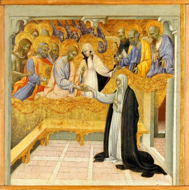 Мистический брак св. Екатерины Сиенской. Ок. 1460