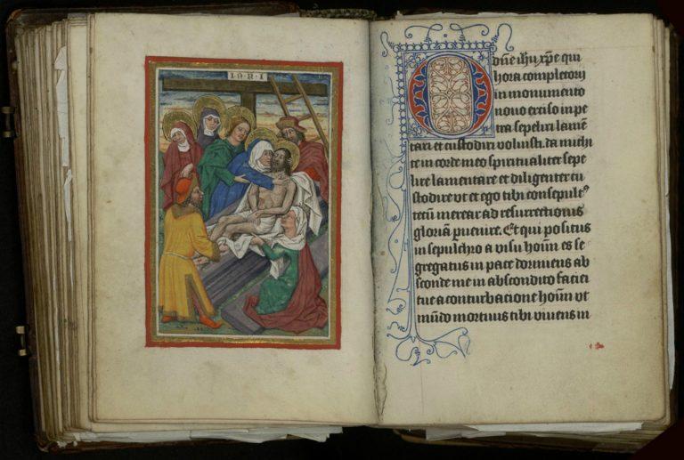 Молитвенник с отрывками из книги Фомы Кемпийского «О подражании Христу». Германия, 1480-е