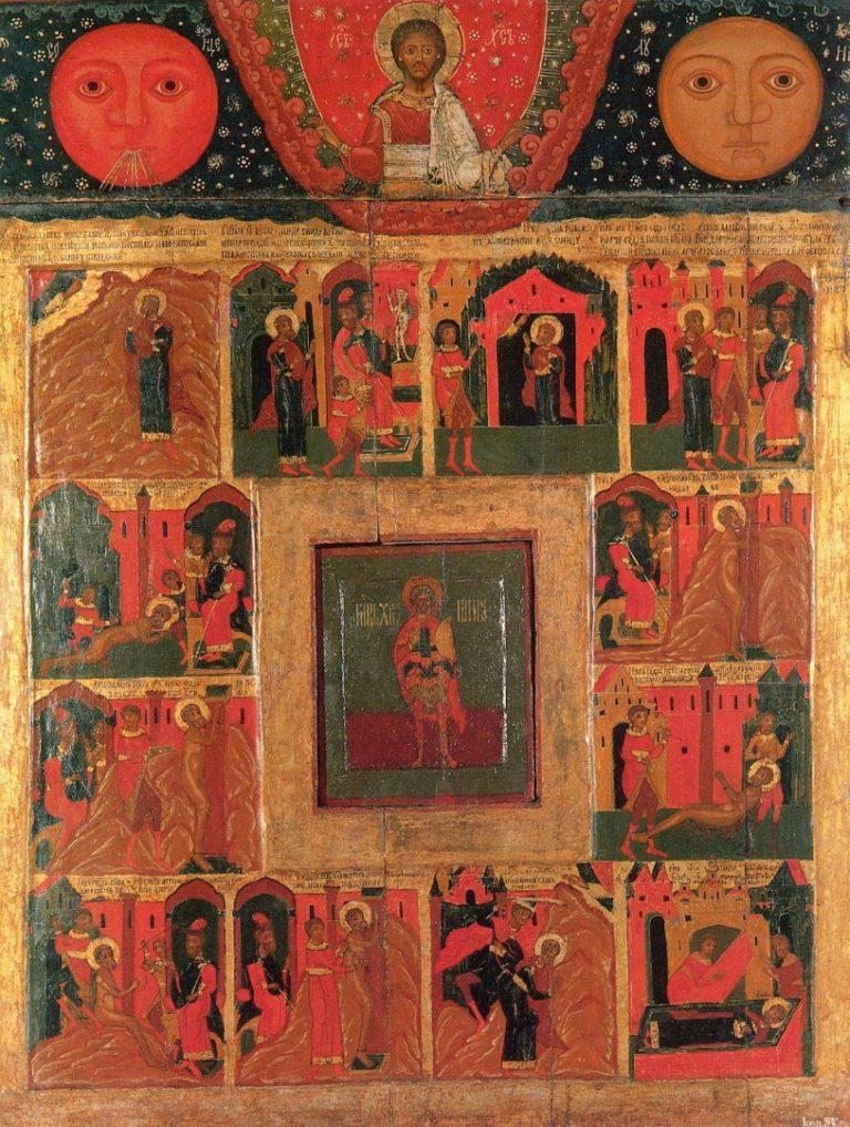 Мученик Мина и сцены из его жития. XVII–XVIII вв.