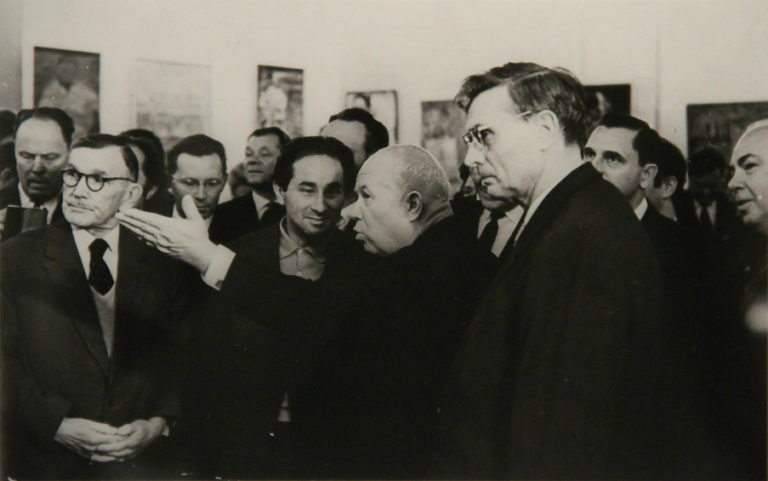 Н. С. Хрущев на выставке художников-авангардистов в Манеже. Москва, 1962