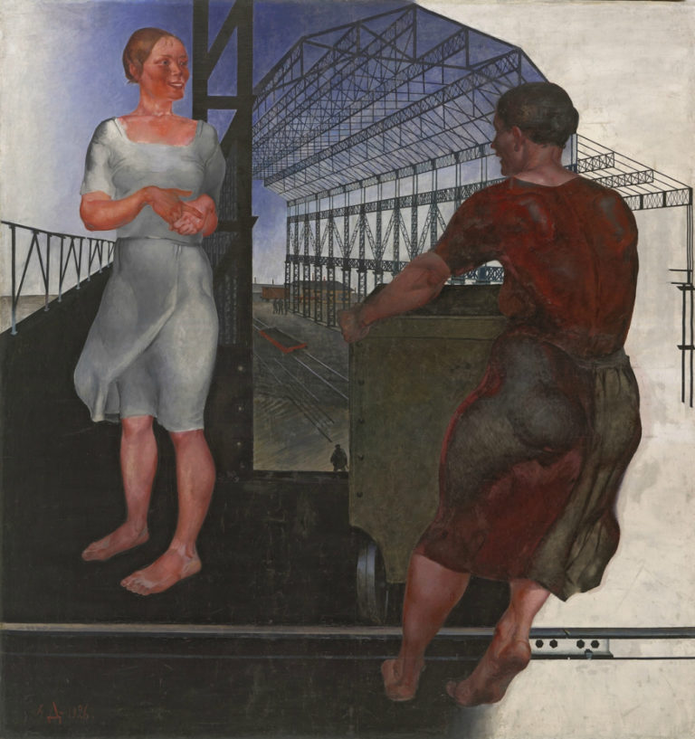 На стройке новых цехов. 1926