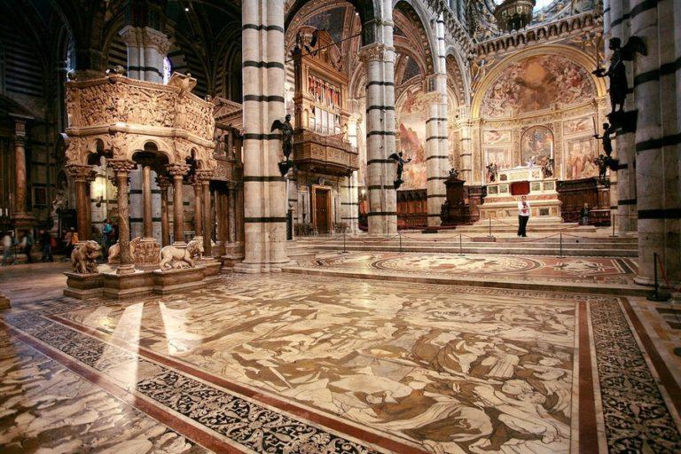 Напольные мозаики Сиенского собора. XIV–XIX вв.