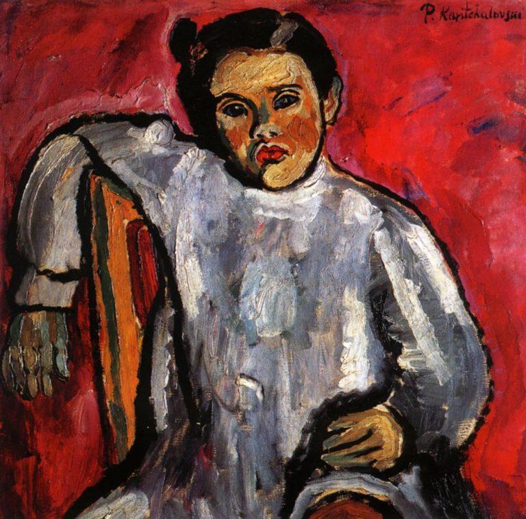 Наташа на стуле (Портрет Н.П. Кончаловской в детстве). 1925