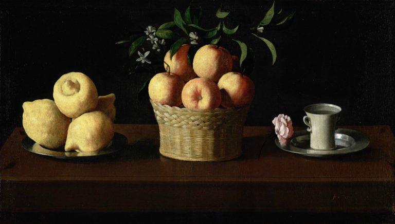 Натюрморт с лимонами, апельсинами и розой. 1633