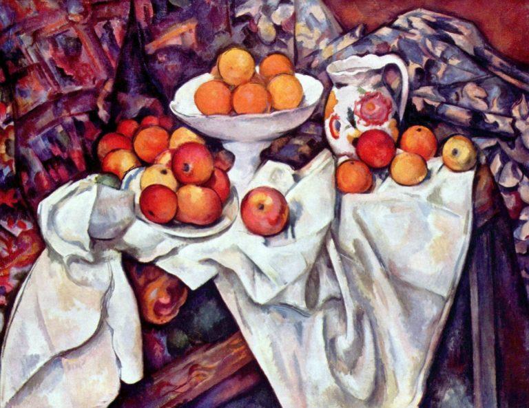 Натюрморт с яблоками и апельсинами. 1895–1900