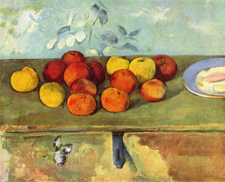 Натюрморт с яблоками и бисквитами. 1880-е