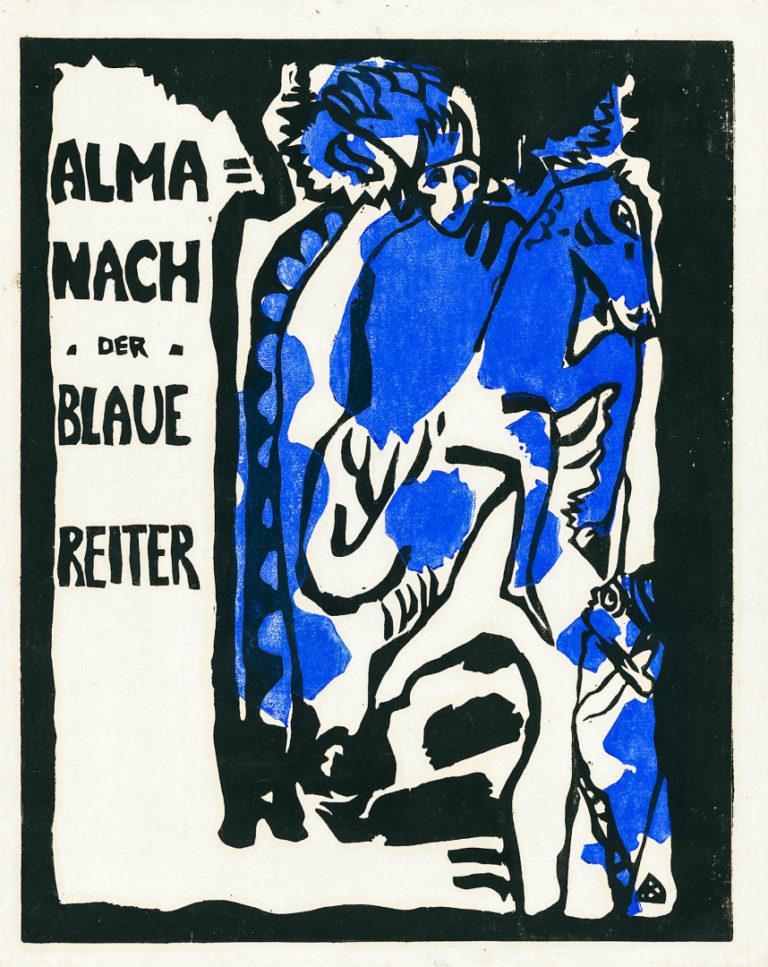 Обложка альманаха «Синий всадник». 1912