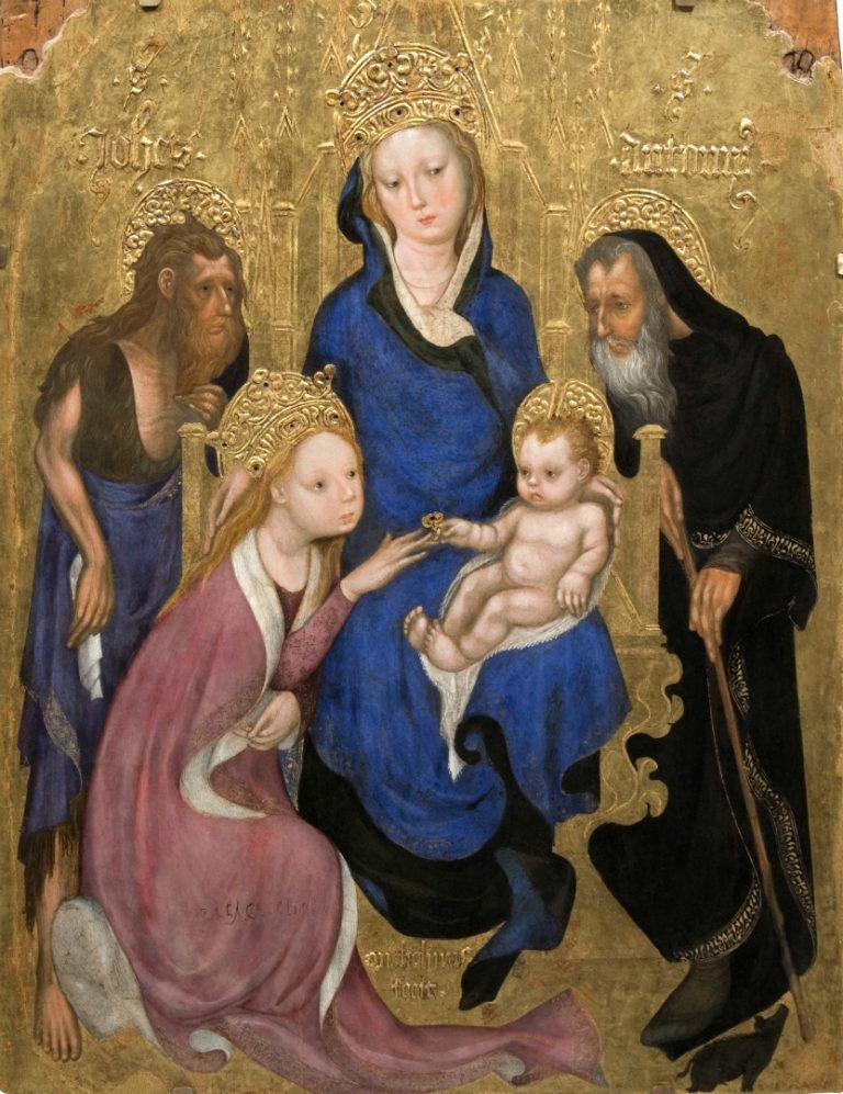 Обручение св. Екатерины. Ок. 1420