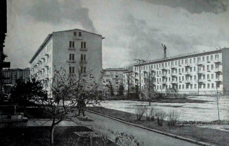 Общий вид жилой застройки 9-го квартала Новых Черёмушек. Москва, 1950-е