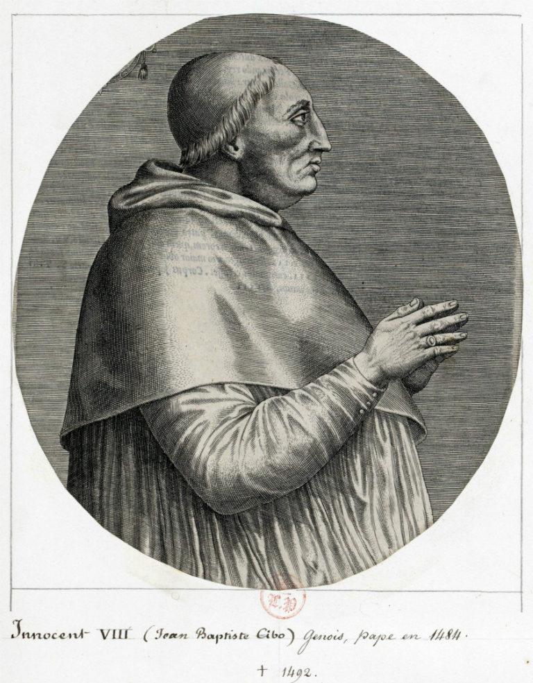 Папа Иннокентий VIII (Джанбаттиста Чибо, итал. Gianbattista Cibo, 1432–1492). XV в.