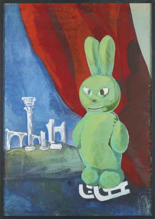 Парадный портрет зайчика на коньках. 1984