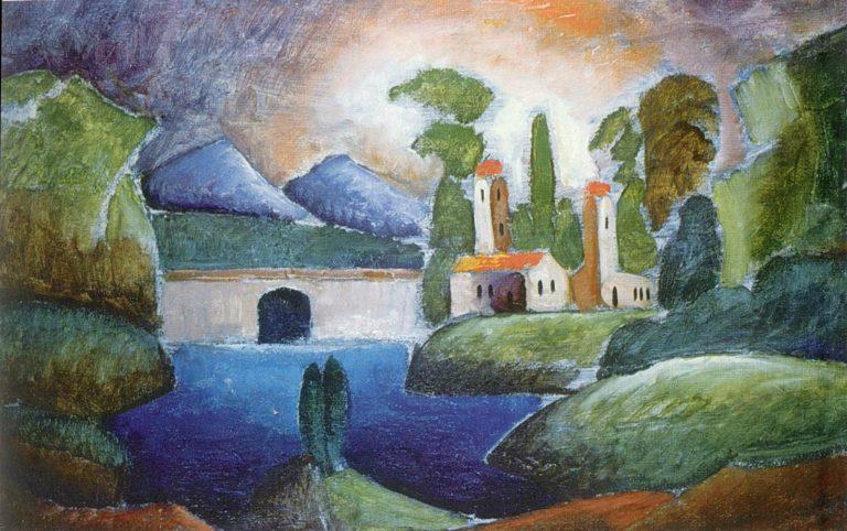 Пейзаж с башнями. 1911