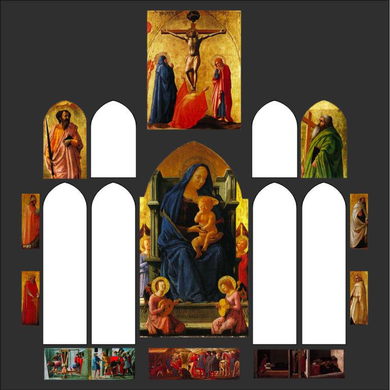 Пизанский полиптих. Реконструкция. 1426