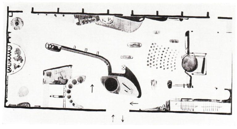 План павильона СССР на Интернациональной выставке гигиены в Дрездене. 1930