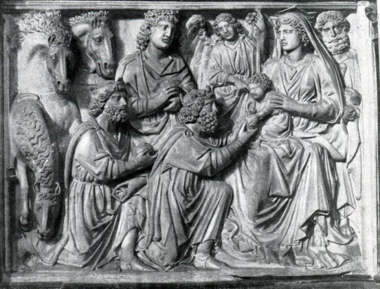 Поклонение волхвов. 1255–1260