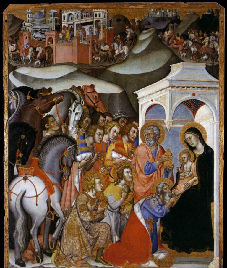 Поклонение волхвов. 1385–1388