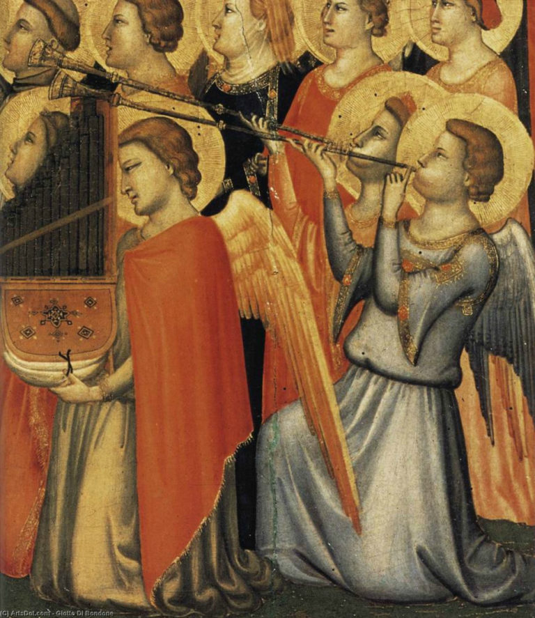 Полиптих Барончелли. Фрагмент. Ангелы. 1328–1334