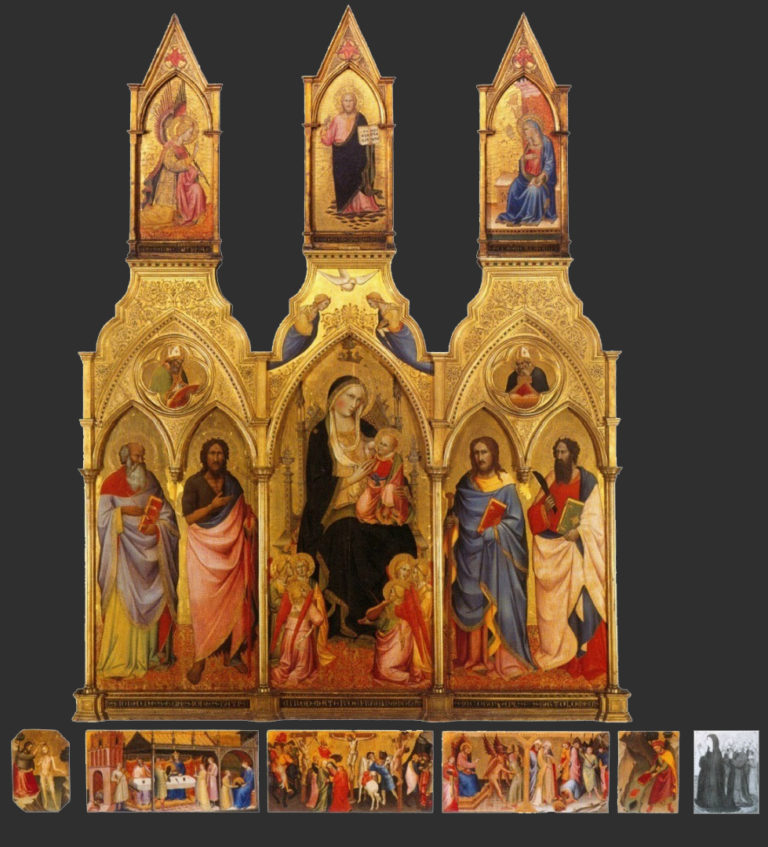 Полиптих из церкви Санта Мария дельи Анджели. 1387–1388