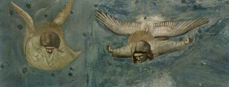 Положение во гроб. Фрагмент. Ангелы. 1303–1305
