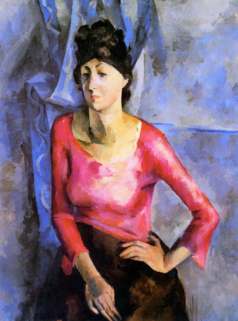 Портрет Е. Т. Барковой. 1921