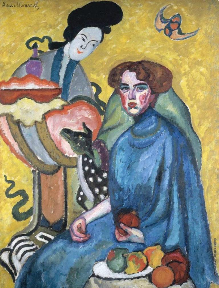 Портрет Евгении Ивановны Киркальди (Дама с китаянкой). 1910