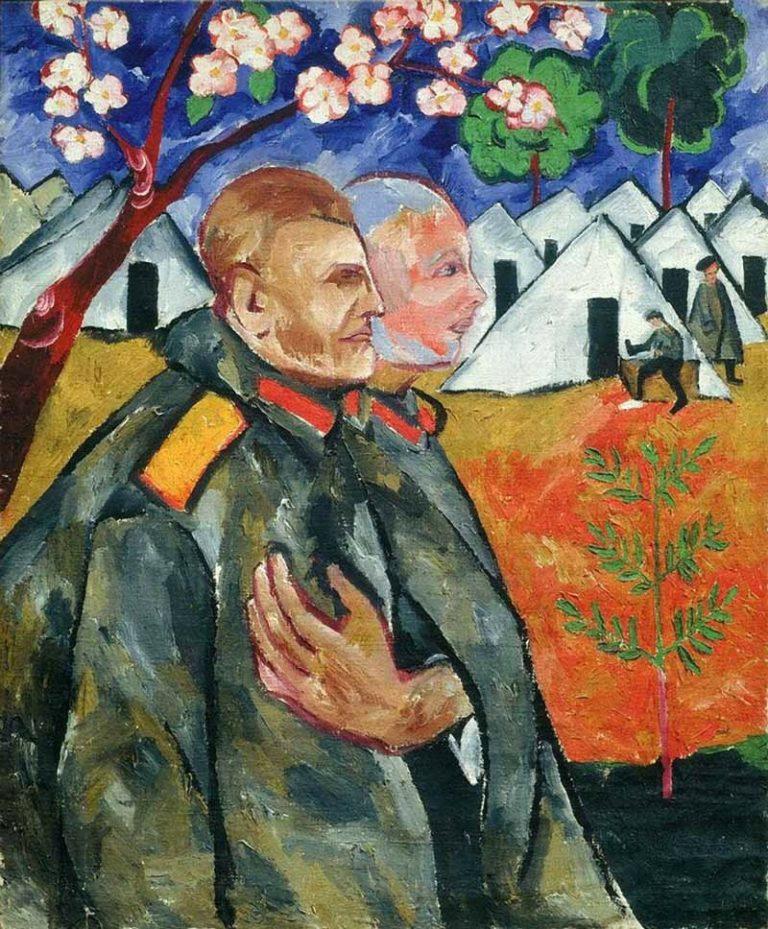 Портрет Михаила Ларионова и его взводного. 1911