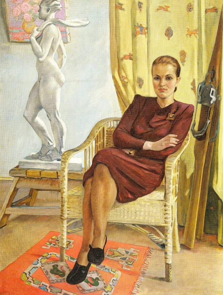 Портрет архитектора Татьяны Милешиной. 1955