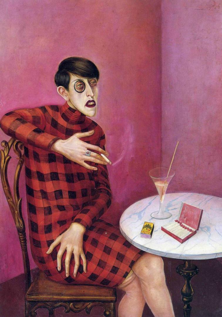 Портрет журналистки Сильвии фон Харден. 1926