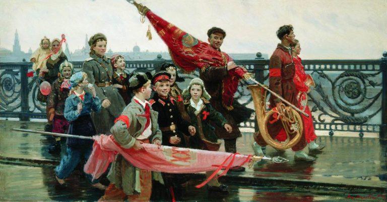 После демонстрации. Они видели Сталина. 1949