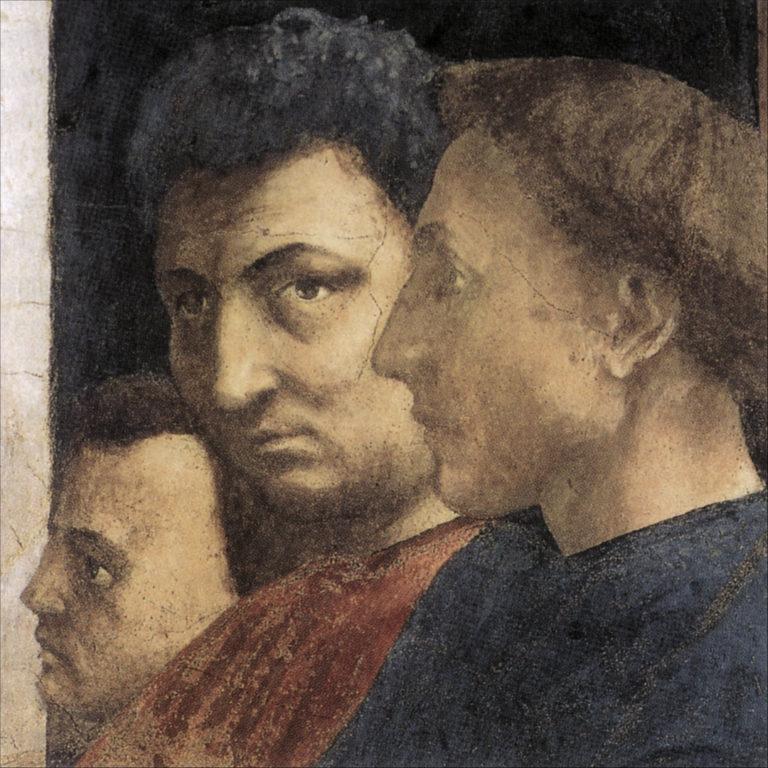 Предполагаемый автопортрет (в центре). 1427–1428