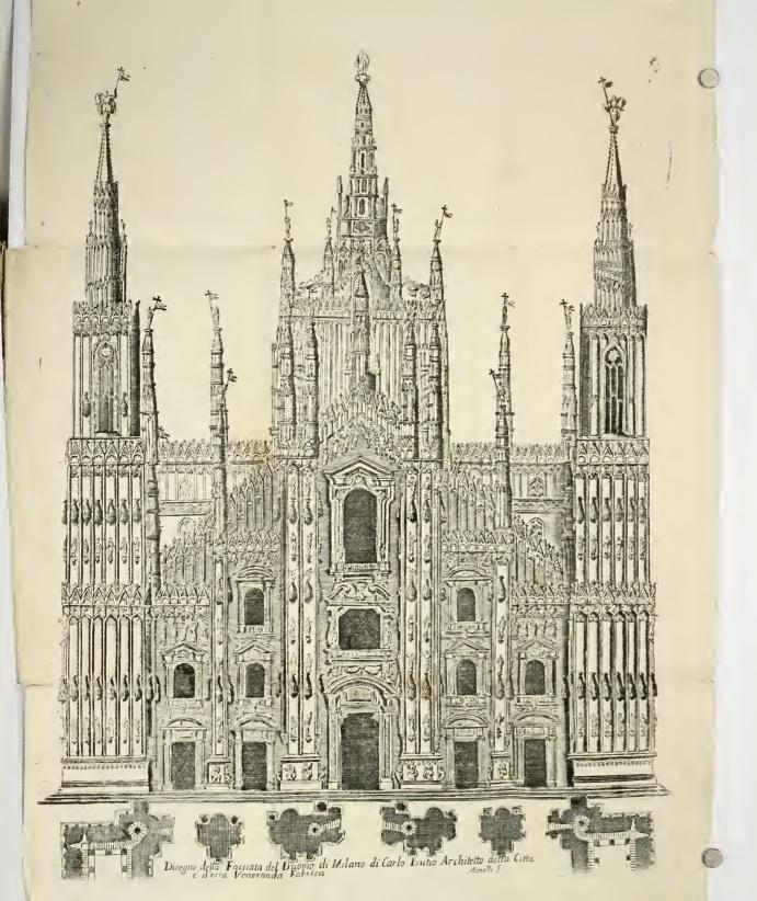 Проект фасада Миланского собора, предложенный Карло Буцци. XVII в.