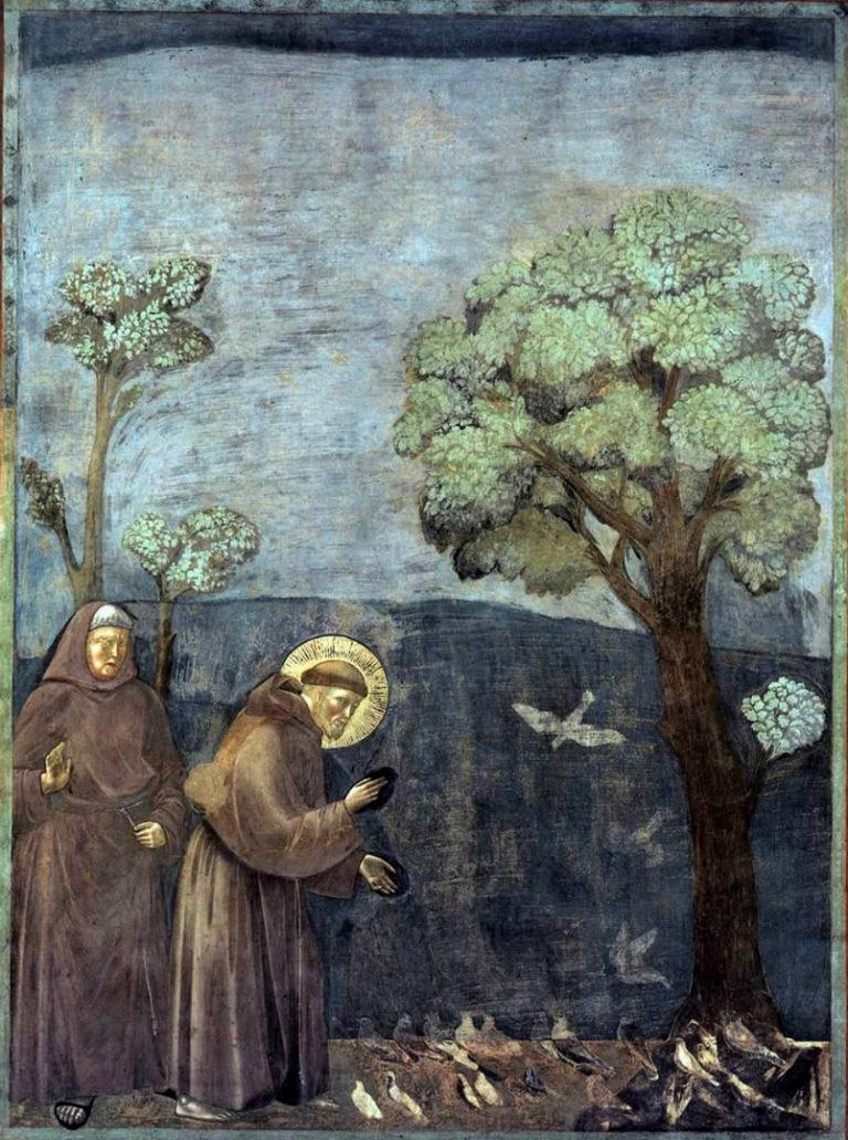 Проповедь Франциска Ассизского птицам. Кон. XIII в.
