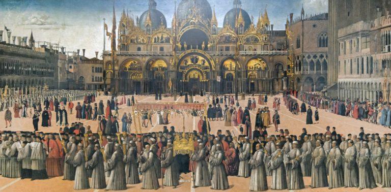 Процессия на площади Сан Марко. 1496