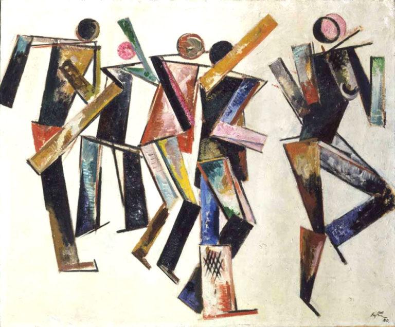 Пять фигур на белом фоне. 1920