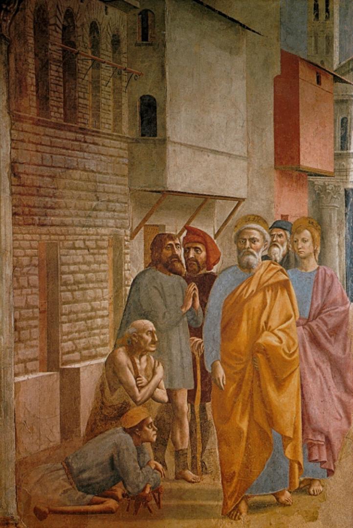 Пётр исцеляет больных своей тенью. 1425–1427