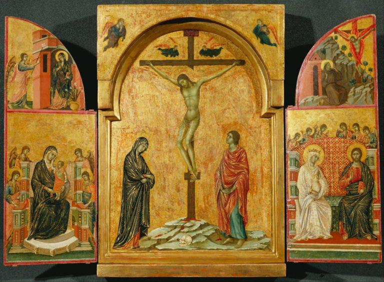 Распятие (триптих). 1305–1308