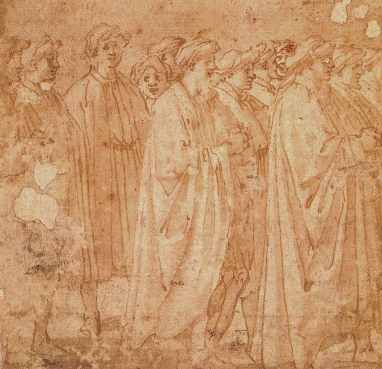 Рисунок с фрески Мазаччо «Освящение». II пол. XVI в.