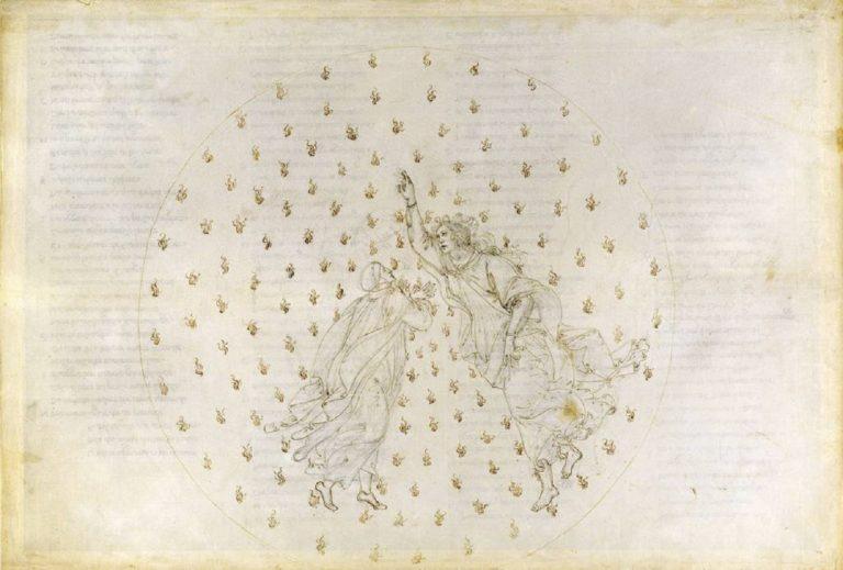 Рисунок к «Божественной комедии».  Рай, VI. 1481–1495