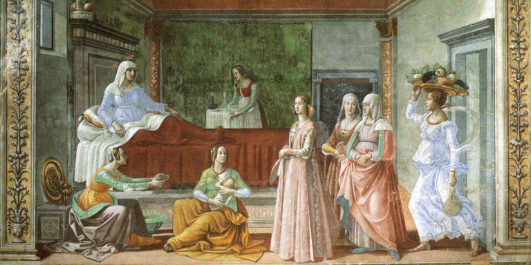 Рождение св. Иоанна Крестителя. 1486–1490