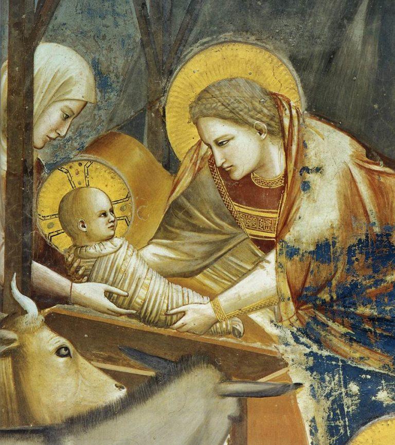 Рождество Христово. Фрагмент. 1303–1305