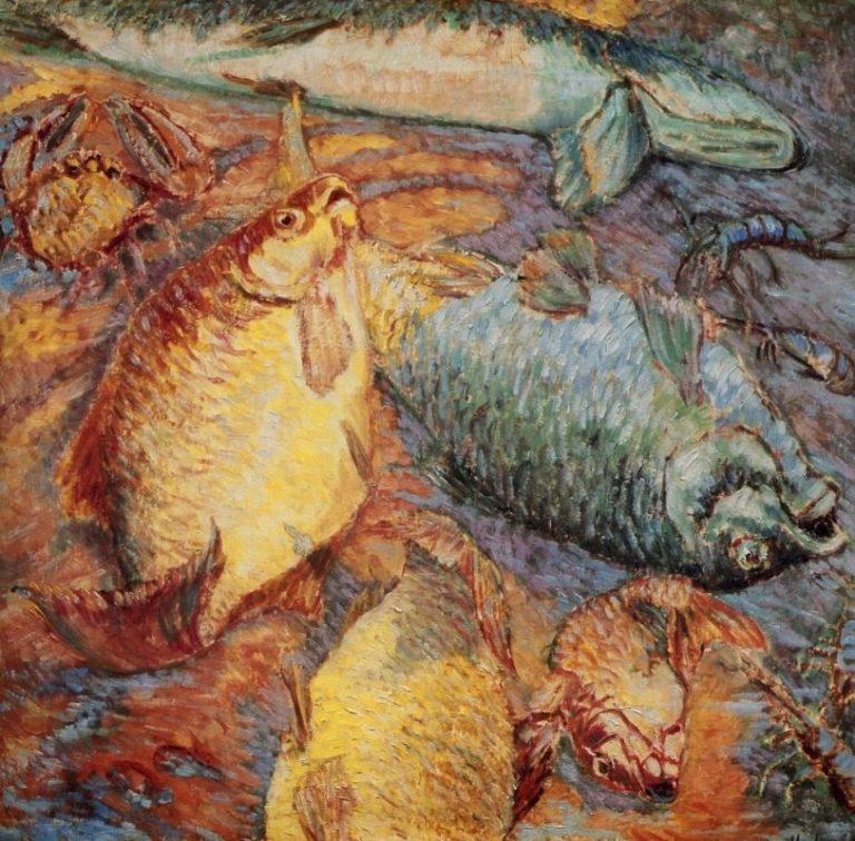 Рыбы на закате. 1904